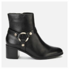 Dune Women's Pipkin Leather Heeled Ankle Boots - Black
