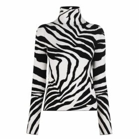 Just Cavalli Zebra Polo Neck Jumper
