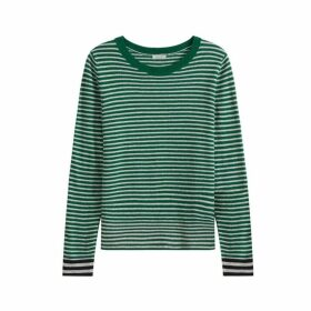 Jigsaw Stripe Contrast Detail Jumper