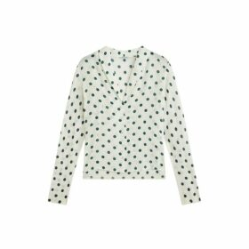 Jigsaw Silk Spot Print Cardigan