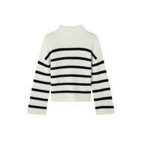 Jigsaw Rib Stripe Jumper