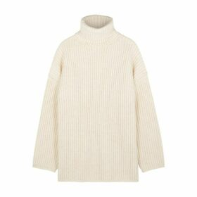 Acne Studios Cream Roll-neck Wool Jumper