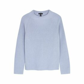 EILEEN FISHER Powder Blue Cotton-blend Jumper
