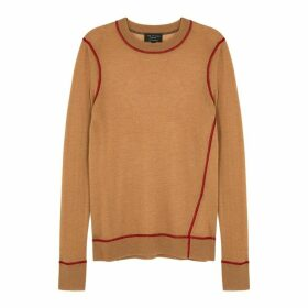 Rag & Bone Marina Camel Fine-knit Cashmere Jumper