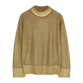 BOSS Fivian Gold Cotton-blend Jumper