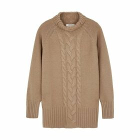 'S Max Mara Ronico Camel Wool-blend Jumper