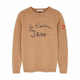 BELLA FREUD Je T'aime Jane Camel Wool-blend Jumper
