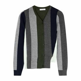 JW Anderson Striped Asymmetric Wool Jumper