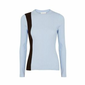 3.1 Phillip Lim Light Blue Ribbed Wool-blend Jumper