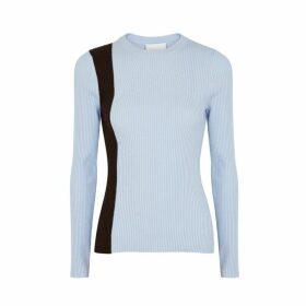 3.1 Phillip Lim Light Blue Ribbed Wool-blend Jumper