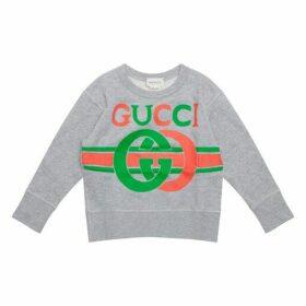 Gucci Gg Logo Jumper Grey 4yr - 10yr