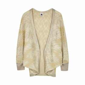 M Missoni Gold Metallic-weave Fine-knit Cardigan