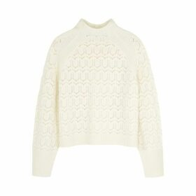 BY MALENE BIRGER Cream Merino Wool-blend Jumper