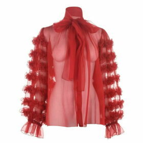 Dolce and Gabbana Chiffon Frill Blouse