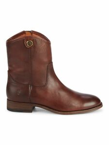 Melissa Button Short Leather Boots