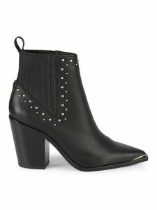 Bynona Studded Leather Western Booties