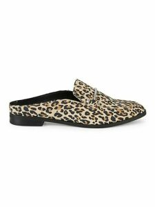 Camrin Leopard-Print Suede Loafers