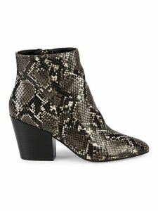 Pells Snakeskin-Embossed Booties