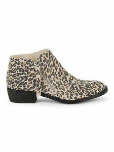 Scarla Leopard Suede Booties