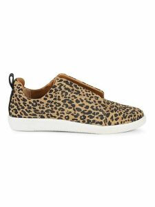 Naffy Leopard-Print Slip-On Sneakers