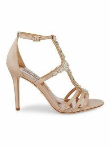 Bejeweled T-Strap Sandals