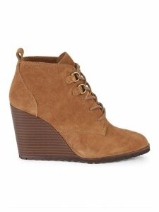 Paris Suede Wedge Ankle Boots