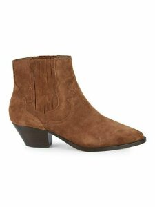 Falcon Suede Western Ankle Boots