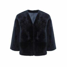 Gushlow & Cole Shearling Cardigan Jacket