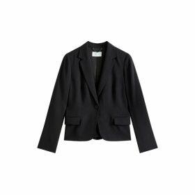 Jigsaw Satin Back One Button Jacket