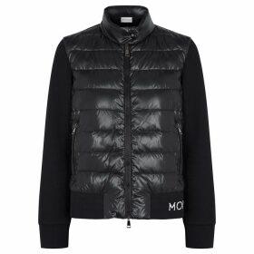 Moncler Black Panelled Cotton-blend Jacket