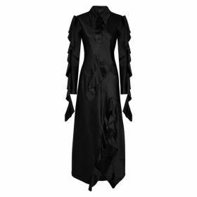 Ellery Temptress Black Satin Maxi Dress
