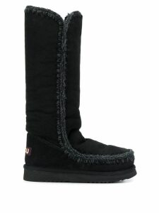Mou woven detail boots - Black