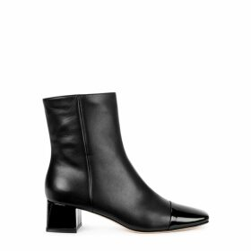 Gianvito Rossi 45 Black Leather Ankle Boots