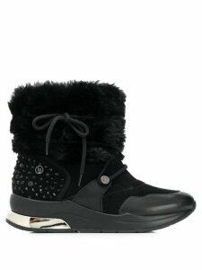 LIU JO logo ankle boots - Black