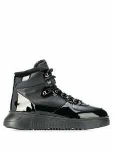 Emporio Armani lace-up hi-top sneakers - Black