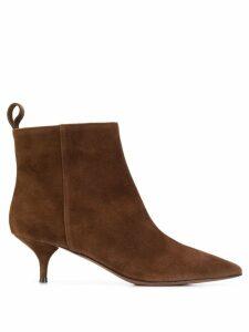 L'Autre Chose textured ankle boots - Brown