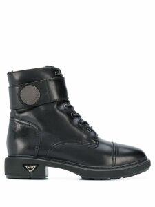 Emporio Armani combat boots - Black