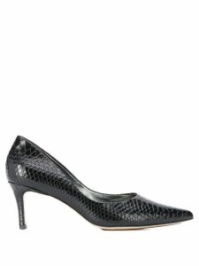 Hogl croc-effect pointed pumps - Black