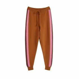 Chinti & Parker Ginger Alpaca Striped Merino-cashmere Track Pants