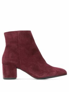 Hogl side-zip ankle boots - Red