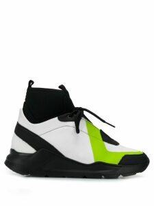 Mr & Mrs Italy chunky hi-top sneakers - Black