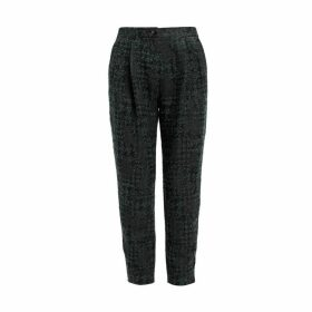 WtR Empire Jacquard Green & Black Trousers