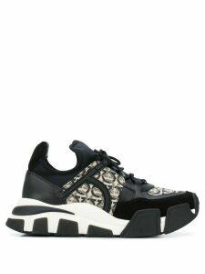 Salvatore Ferragamo Gancini monogram chunky sneakers - Black