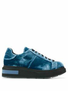 Paloma Barceló Etna velvet sneakers - Blue