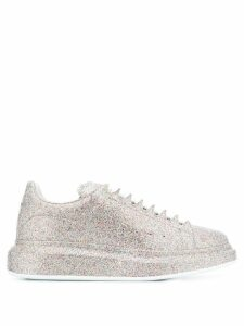 Alexander McQueen glitter embellished chunky sneakers - SILVER