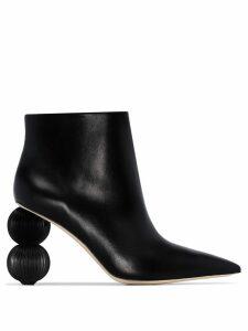 Cult Gaia Cam 100 round heel boots - Black