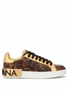 Dolce & Gabbana tortoiseshell low-top sneakers - Brown