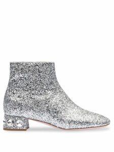Miu Miu glitter ankle boots - SILVER