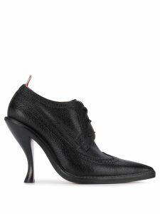 Thom Browne Curved Heel Longwing Brogues - Black