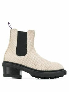 Eytys snakeskin-effect Chelsea boots - Neutrals